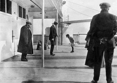 Doug Spedden Playing on Deck of Titanic, 1912. Frank Browne Through The Lens exhibition at Farmleigh Gallery