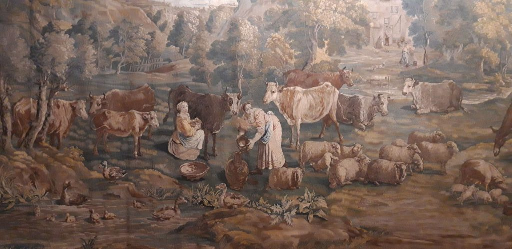 Section of The Milking Scene